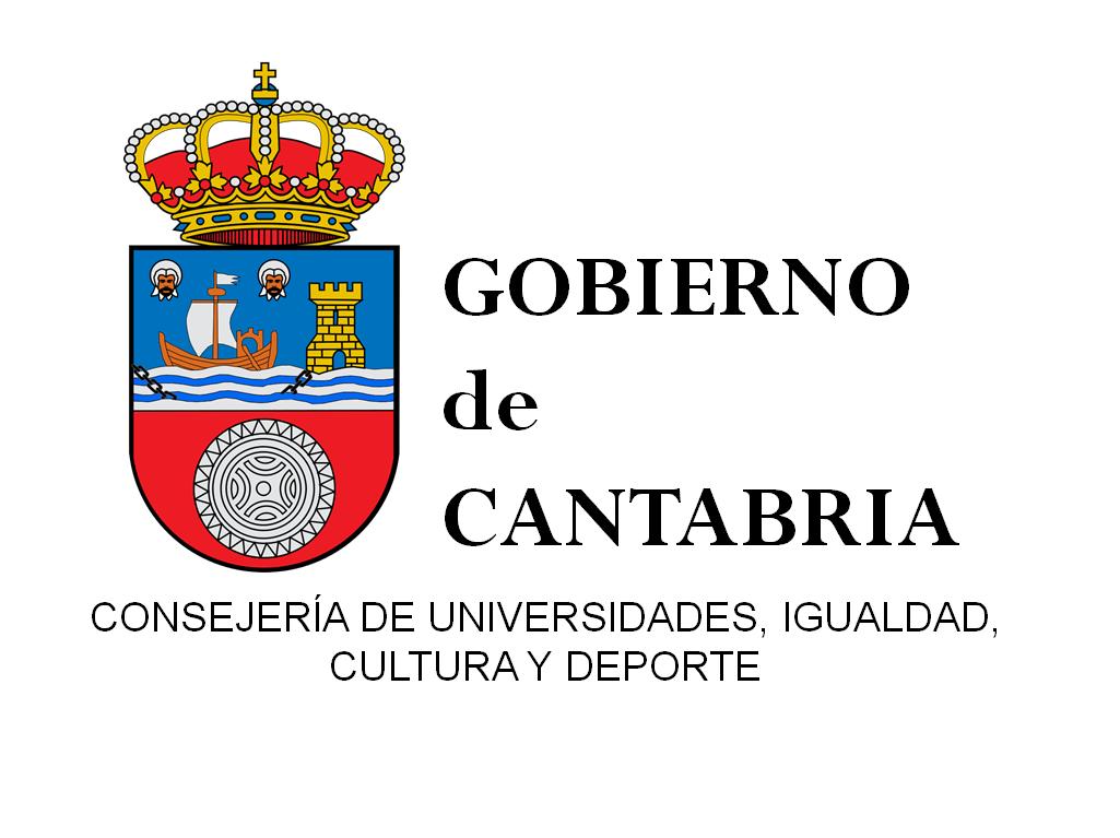 Logo Consejería de Universidades, Igualdad, Cultura y Deporte. Gobierno de Cantabria